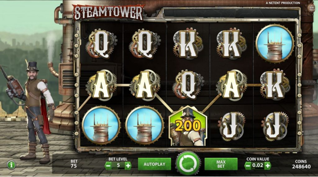 screenshot Steamtower video slot