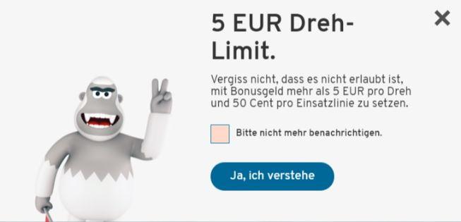 5 euro bonus maximal wetten