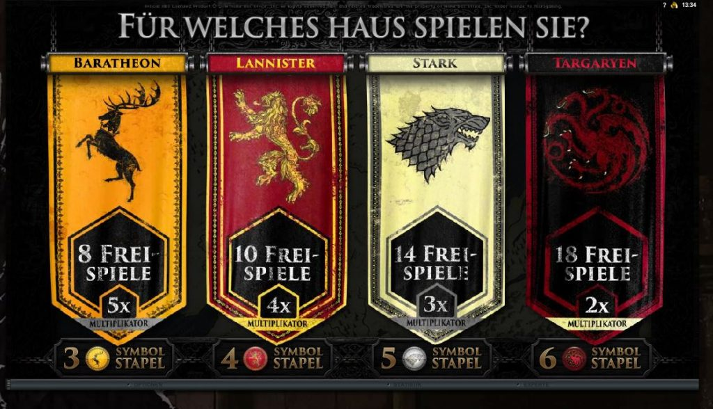 free spins game of thrones