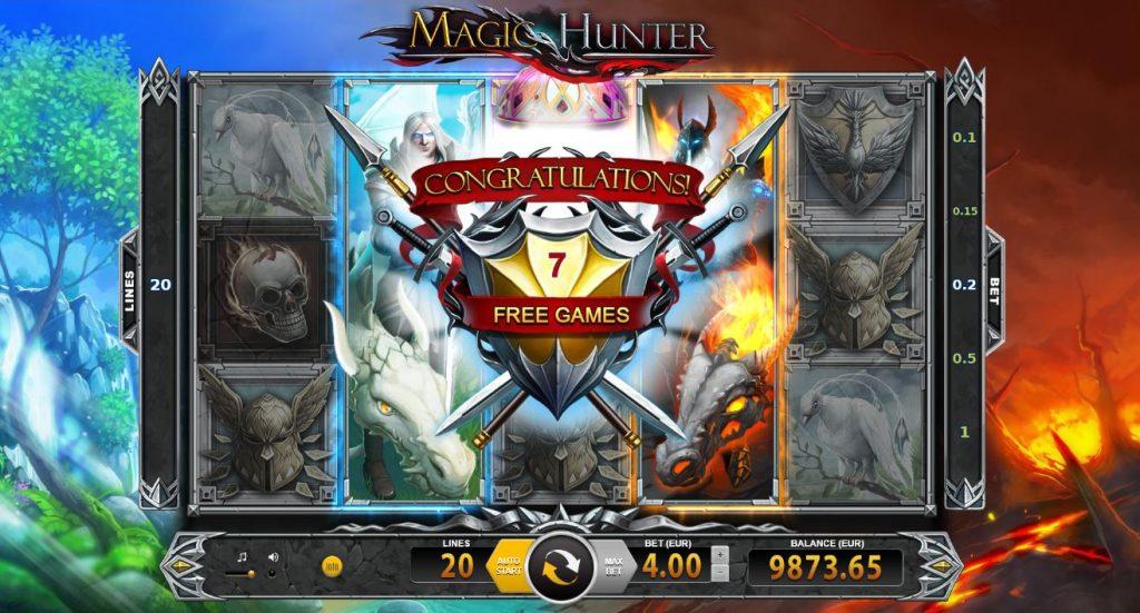 magic hunter free spins