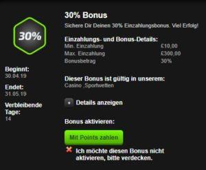 Einzahlungsbonus Mobilbet Casino