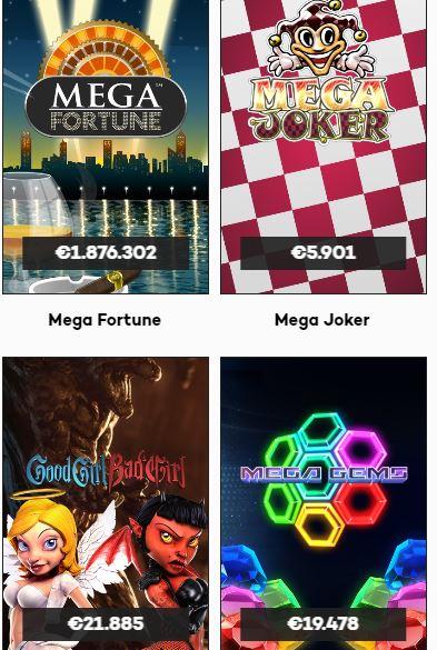 Highroller Online Casino Jackpots