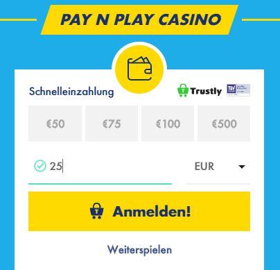 GoSlotty Casino Einzahlung