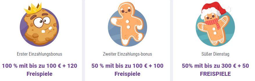 Cookie Casino Bonus Angebot