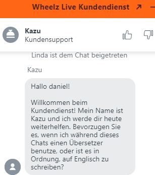 wheelz support chat